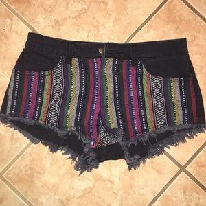 Forever 21 boho jean shorts